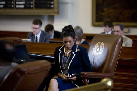 Rep. Dawnna Dukes, D-Austin, on the House floor Aug. 2, 2017.