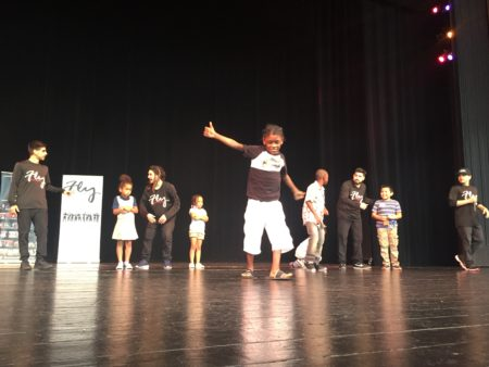 Third grader Cedric Dupas got to show off his freestyle moves at an interactive hip hop show at Miller Outdoor Theater. He and his classmates at Hilliard Elementary will start their new school year on Monday.