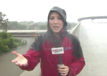 KHOU's Brandi Smith During Hurricane Harvey