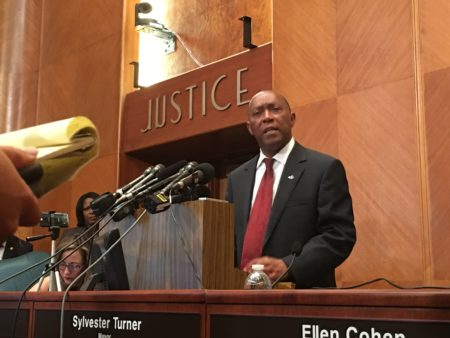 Houston Mayor Sylvester Turner will announce the recipients of some of the grants funded with the consolidated Harvey relief fund managed by the City of Houston and Harris County.