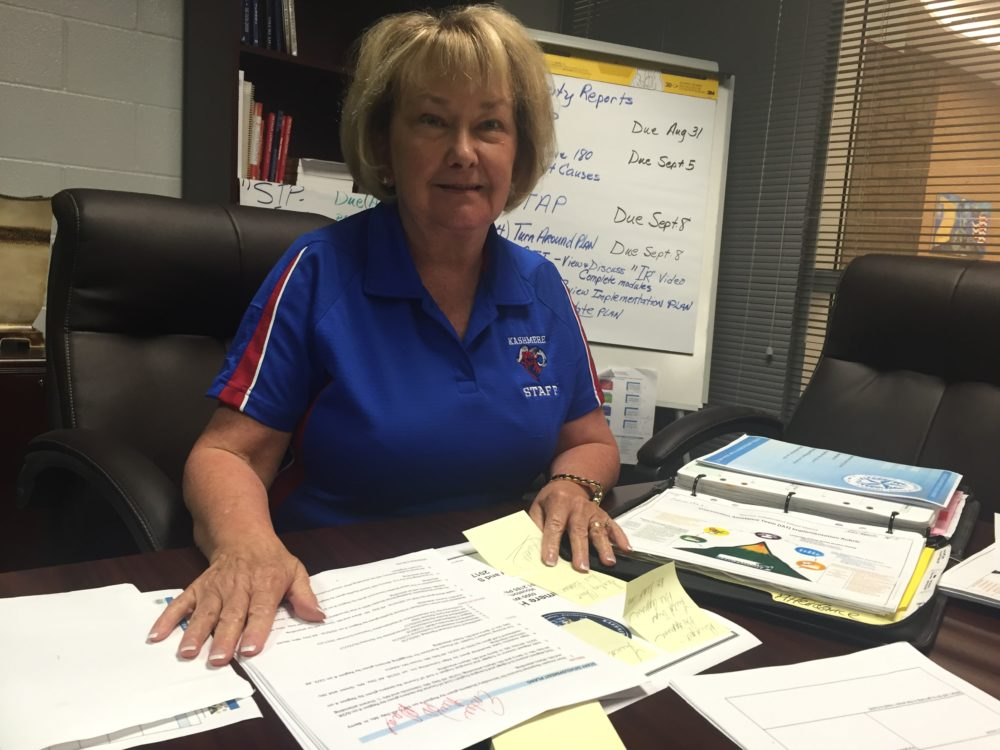 Nancy Blackwell recently started her third year as principal of Kahsmere High. She has made sure that all teachers are certified and opened new labs for students to research college opportunities.