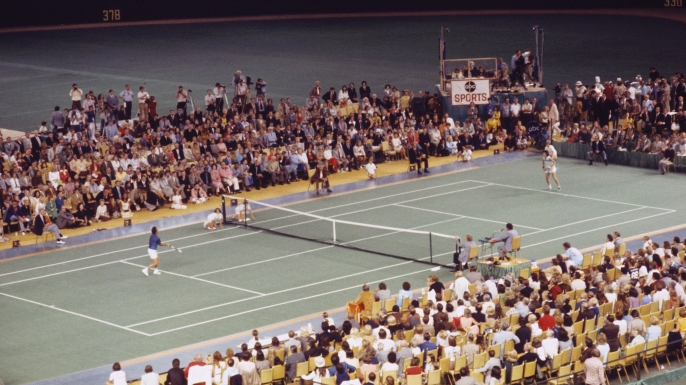 Battle of the Sexes Tennis Match at the Astrodome