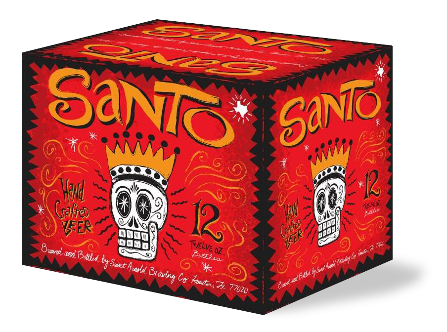 A 12-Pack of St. Arnold's Santo Beer.