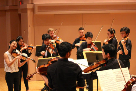 KINETIC string orchestra in rehearsal