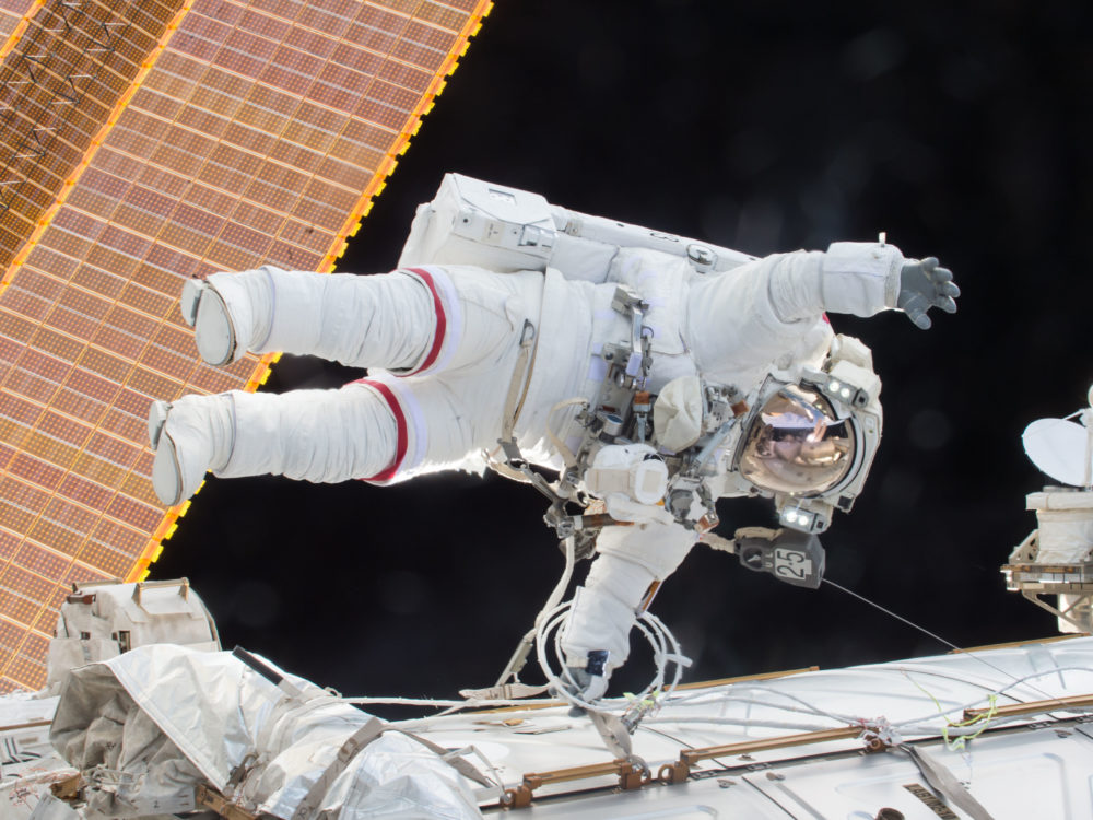 NASA Astronauts begin spacewalk on International Space Station