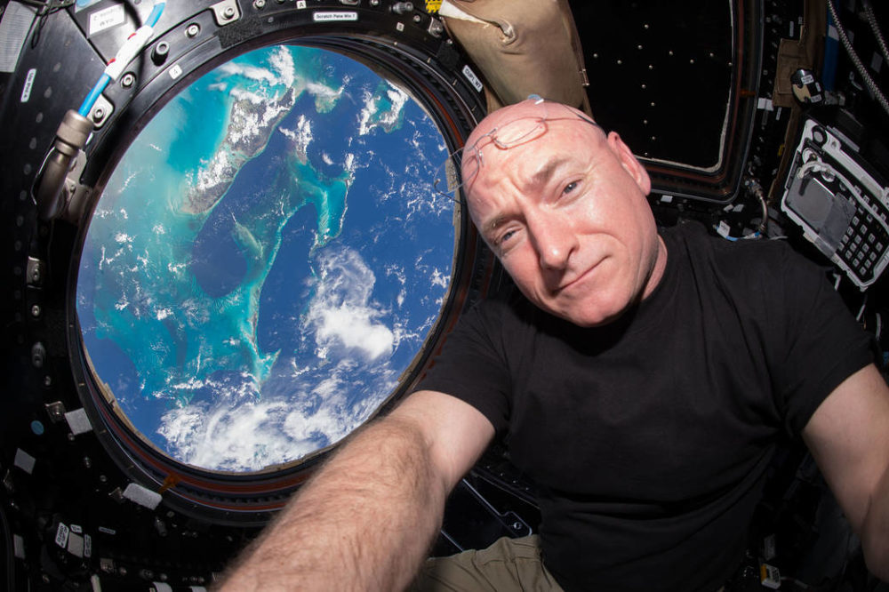Astronaut Scott Kelly Onboard The ISS