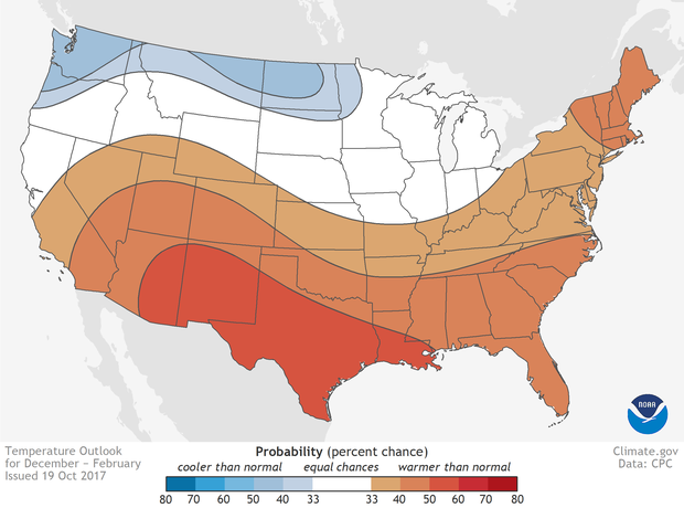 What NOAA is Expecting Winter 2018 to Look Like