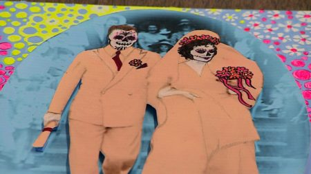 One of the retablos featured in Lawndale's annual Day of the Dead celebration
