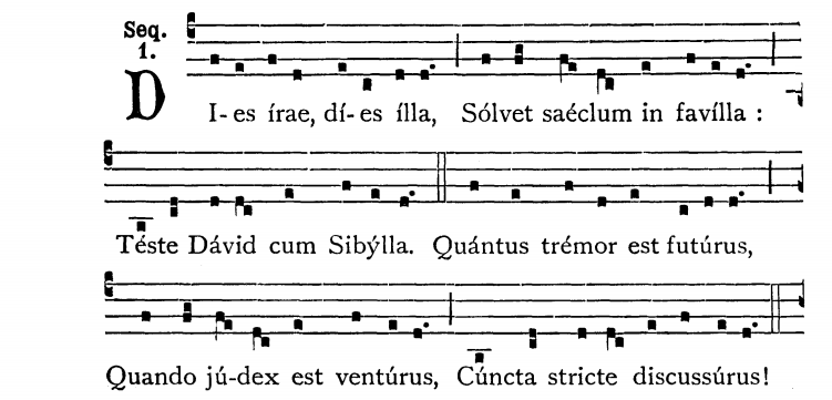 Fragment of Dies Irae