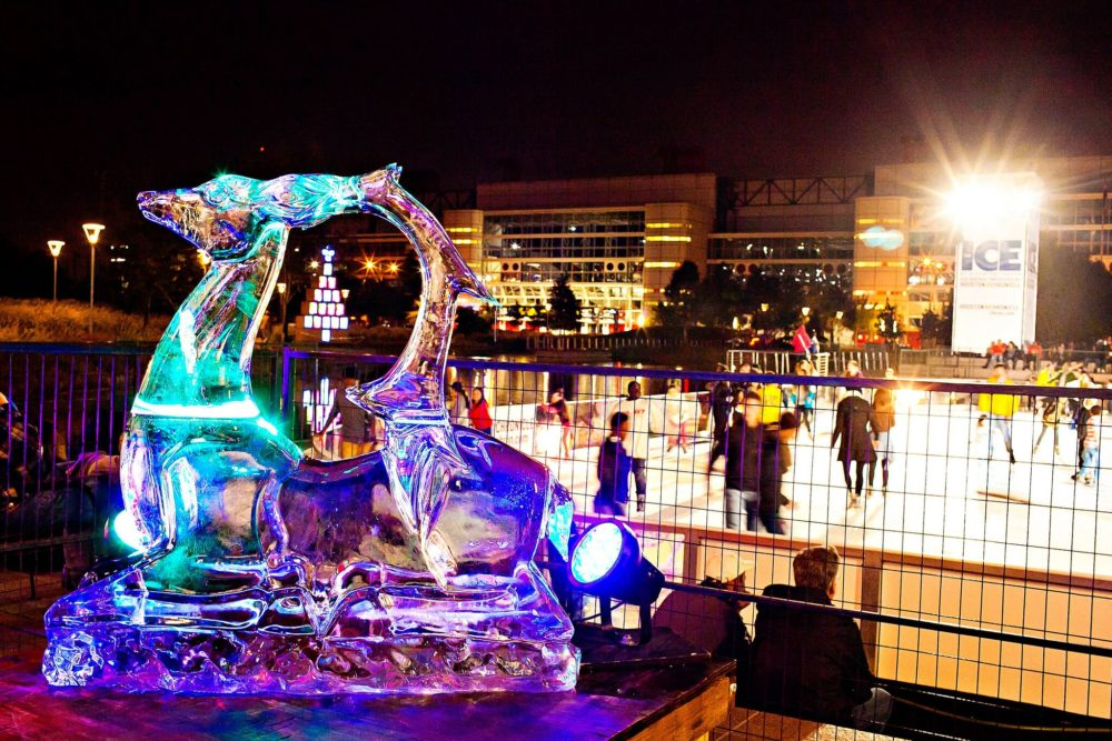 'Frostival', an event featuring family-oriented interactive activities, ice carving and live music, is part of Discovery Green's winter season.
