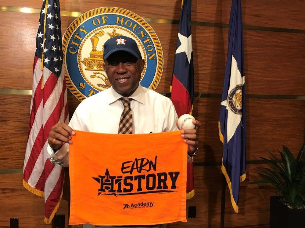 Mayor Sylvester Turner expects more than 500,000 people will attend the parade in downtown Houston with the Astros after their historic victory in the 2017 World Series.