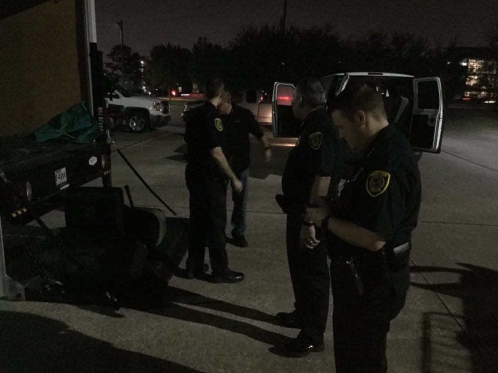 A group of 25 officers from the Houston Police Department have traveled to Puerto Rico to assist the population of the island in the recovery process after it was battered by hurricane Maria.