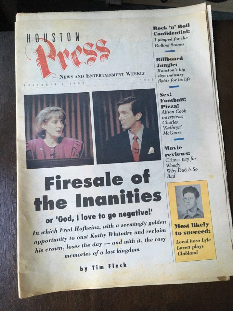 The first issue of the Houston Press.