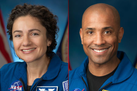Astronauts Jessica Meir and Victor Glover