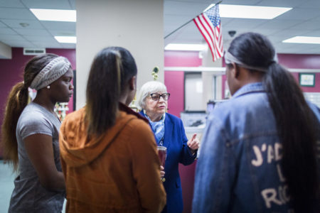 Principal Bertie Simmons came out of retirement to lead Furr High School, where she was principal for over 10 years until she was suspended this fall.