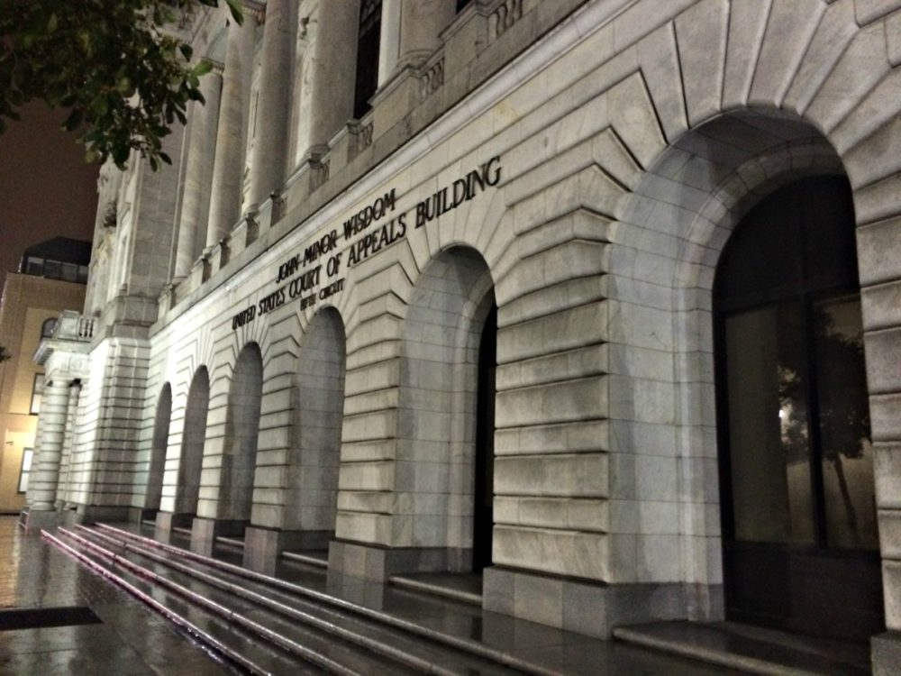 The Fifth Circuit Court of Appeals in New Orleans.