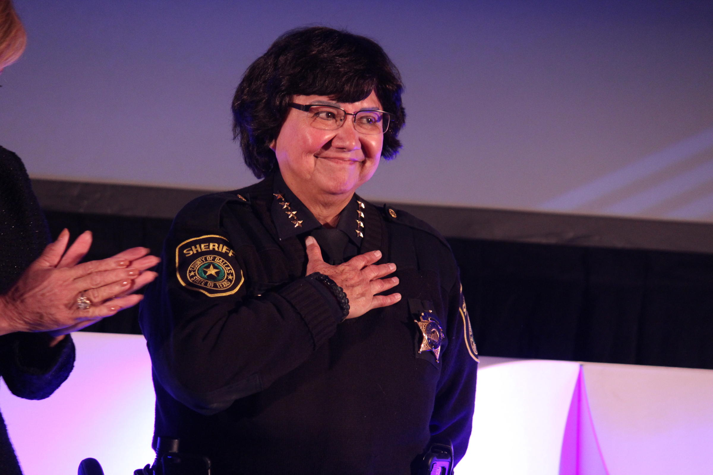 Lupe Valdez at the Annie's List luncheon in Dallas last month.