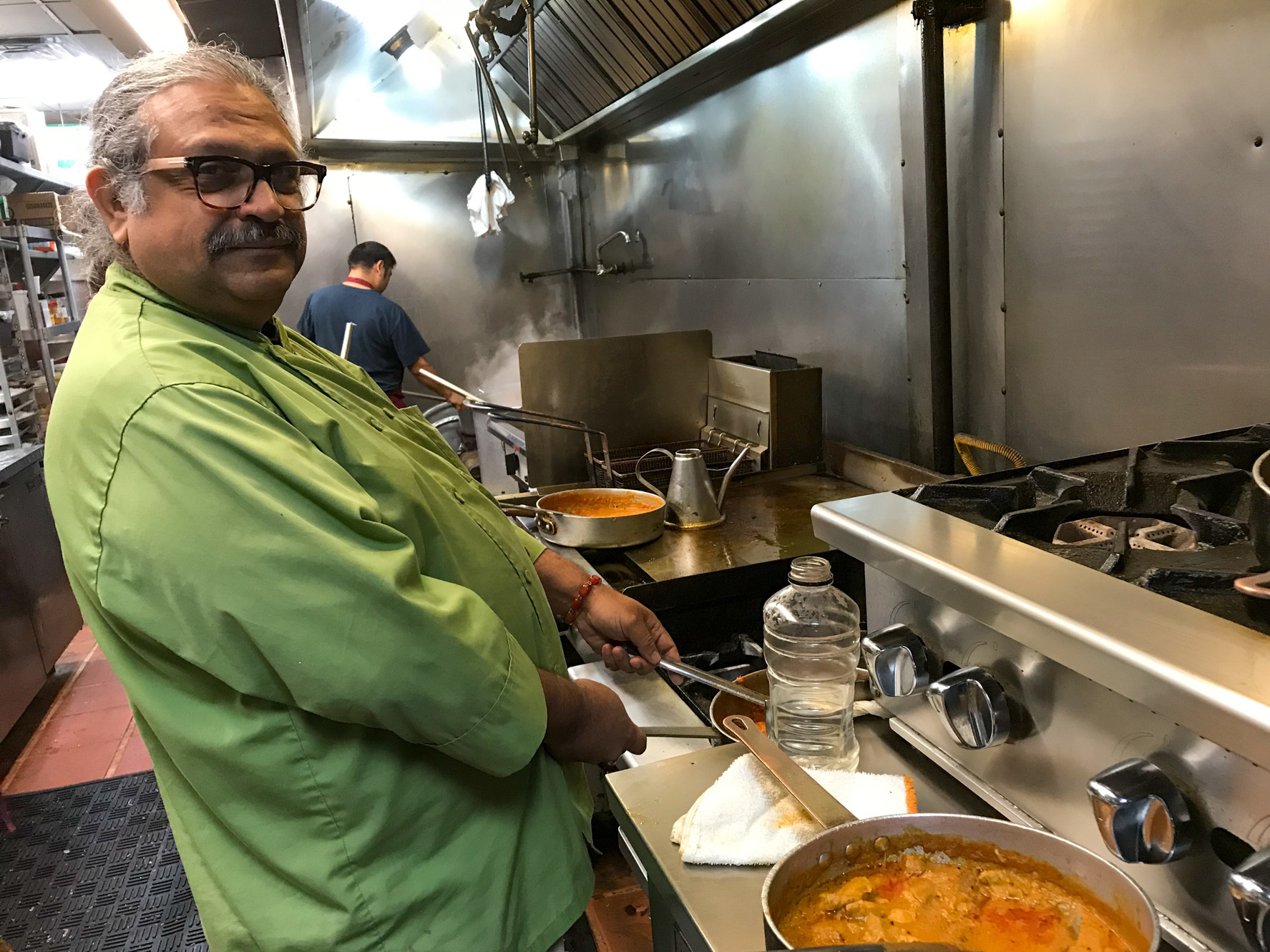 Lashkari gives us a tour of his kitchen. He's known for some of the best Pakistani and Indian food in Houston. His cooking borrows happily from other cultures.