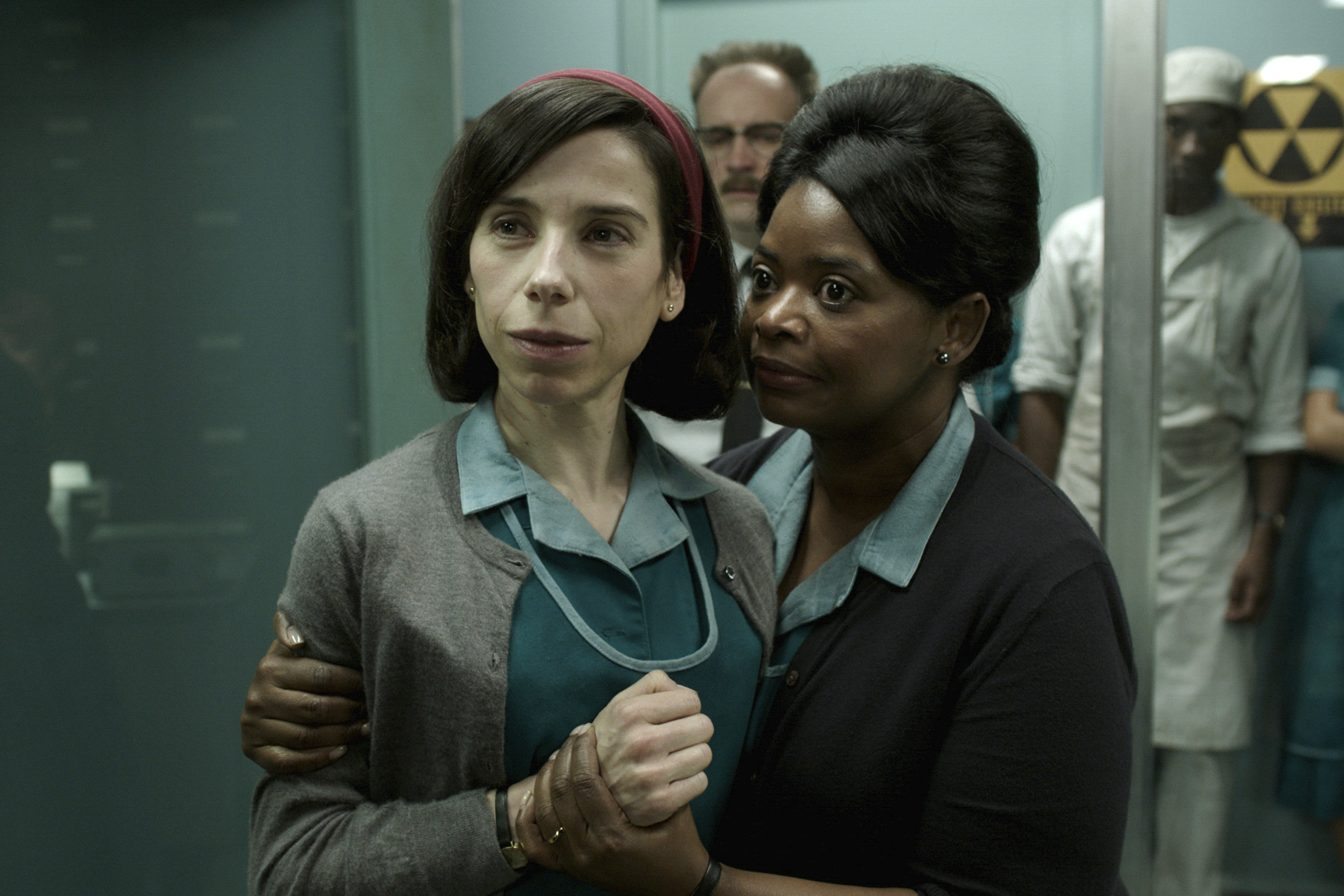 Sally Hawkins (left) and Octavia Spencer in a scene from Guillermo del Toro's