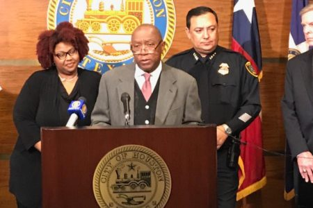 Mayor Sylvester Turner urged Houstonians to stay off the roads on Tuesday because of the potentially dangerous driving conditions caused by the inclement winter weather our region is experiencing.