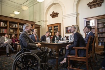 During her visit to Texas, DHS Secretary Kirstjen Nielsen met with Governor Greg Abbott and discussed the post-Harvey recovery.