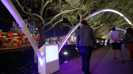 Hello Trees!, an interactive installation at downtown's Discovery Green