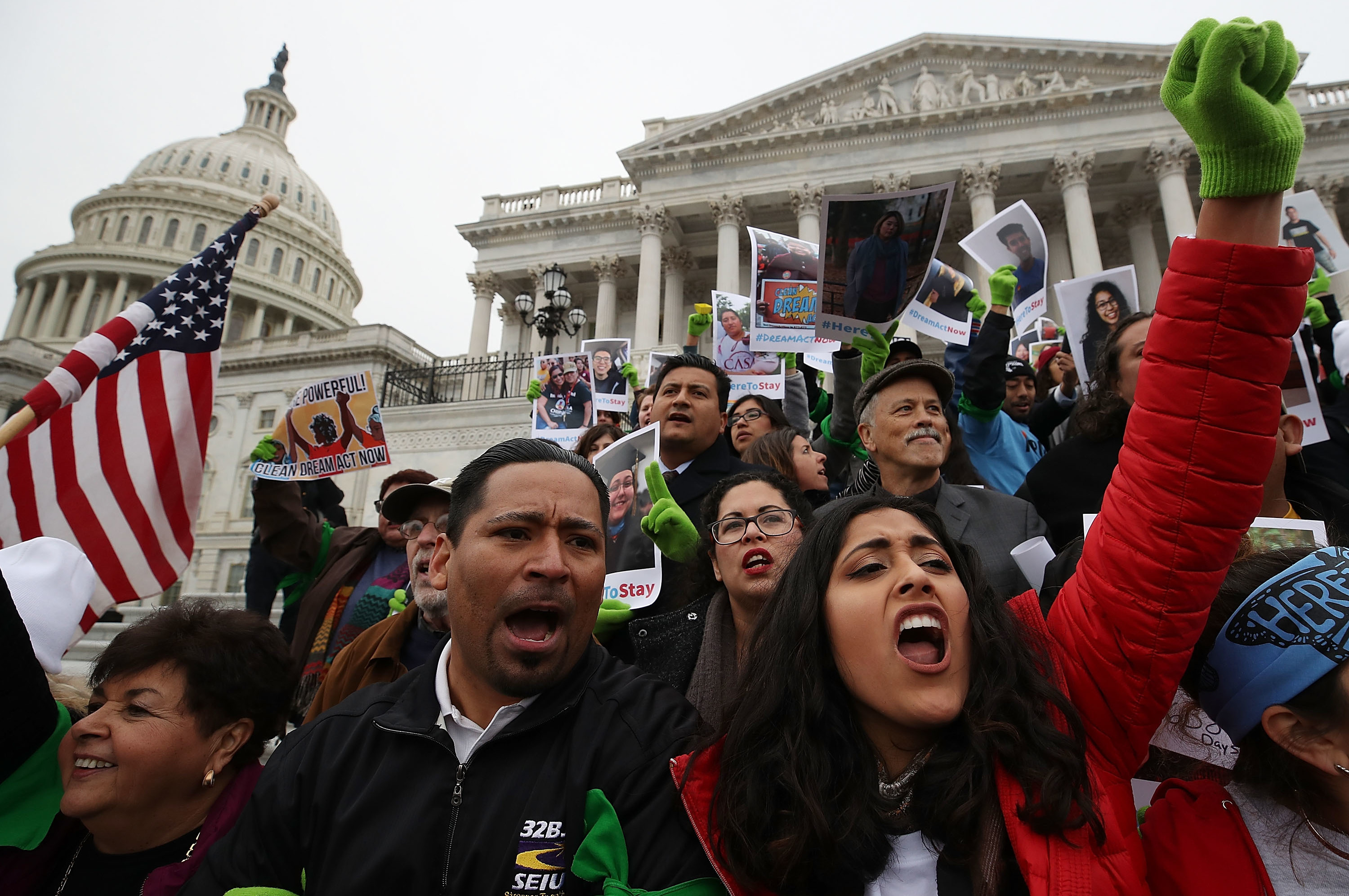 File photo of December 18, 2017, people who call themselves DREAMers, protest in front of the U.S. Capitol to urge Congress to pass a DREAM Act.