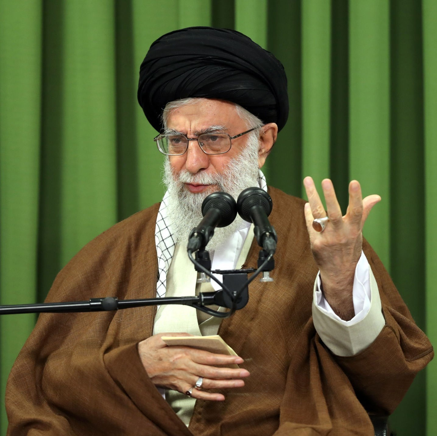 Iran's Supreme Leader Ayatollah Ali Khamanei speaks during his meeting with students in Tehran, Iran in October. Photo by Iranian Leader's Press Office - Handout