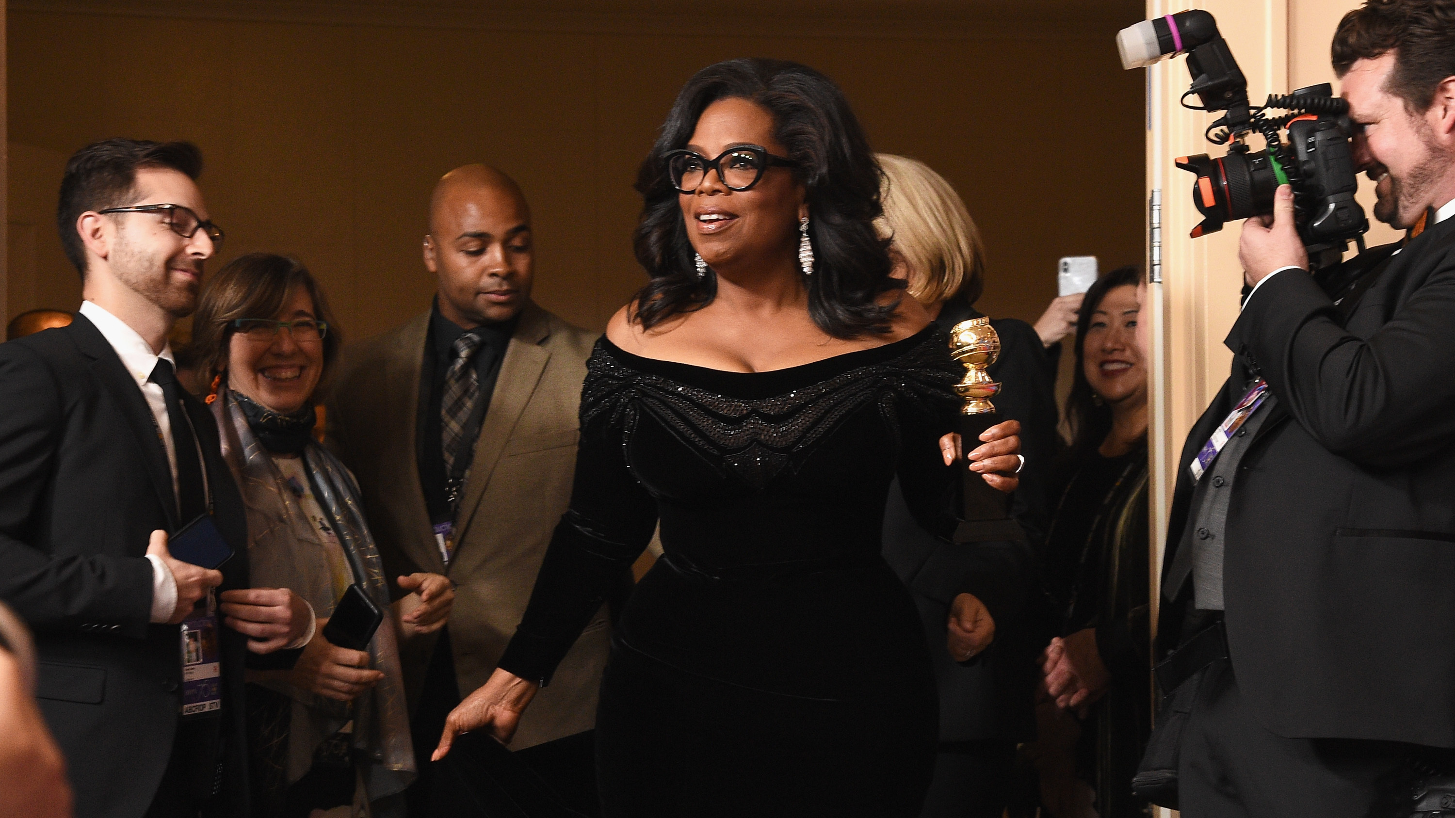 Oprah Winfrey, recipient of the Cecil B. DeMille Award, gave a rousing Golden Globes speech that spurred talk of a 2020 presidential run.