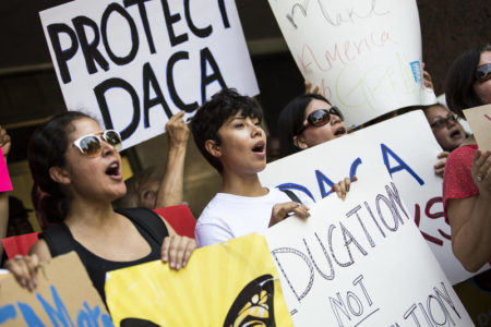 The U.S Citizenship and Immigration Services has resumed accepting requests to renew a grant of deferred action under the Obama-era DACA program, which shields from deportation young immigrants brought to the U.S. as children.