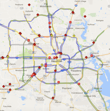 Road Closures Due To High Water In Houston Tuesday Houston