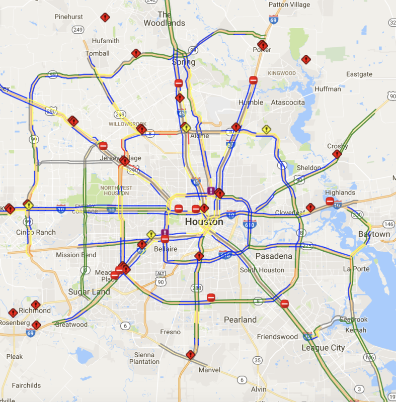 Road Closures Due To High Water In Houston, Tuesday – Houston Public ...