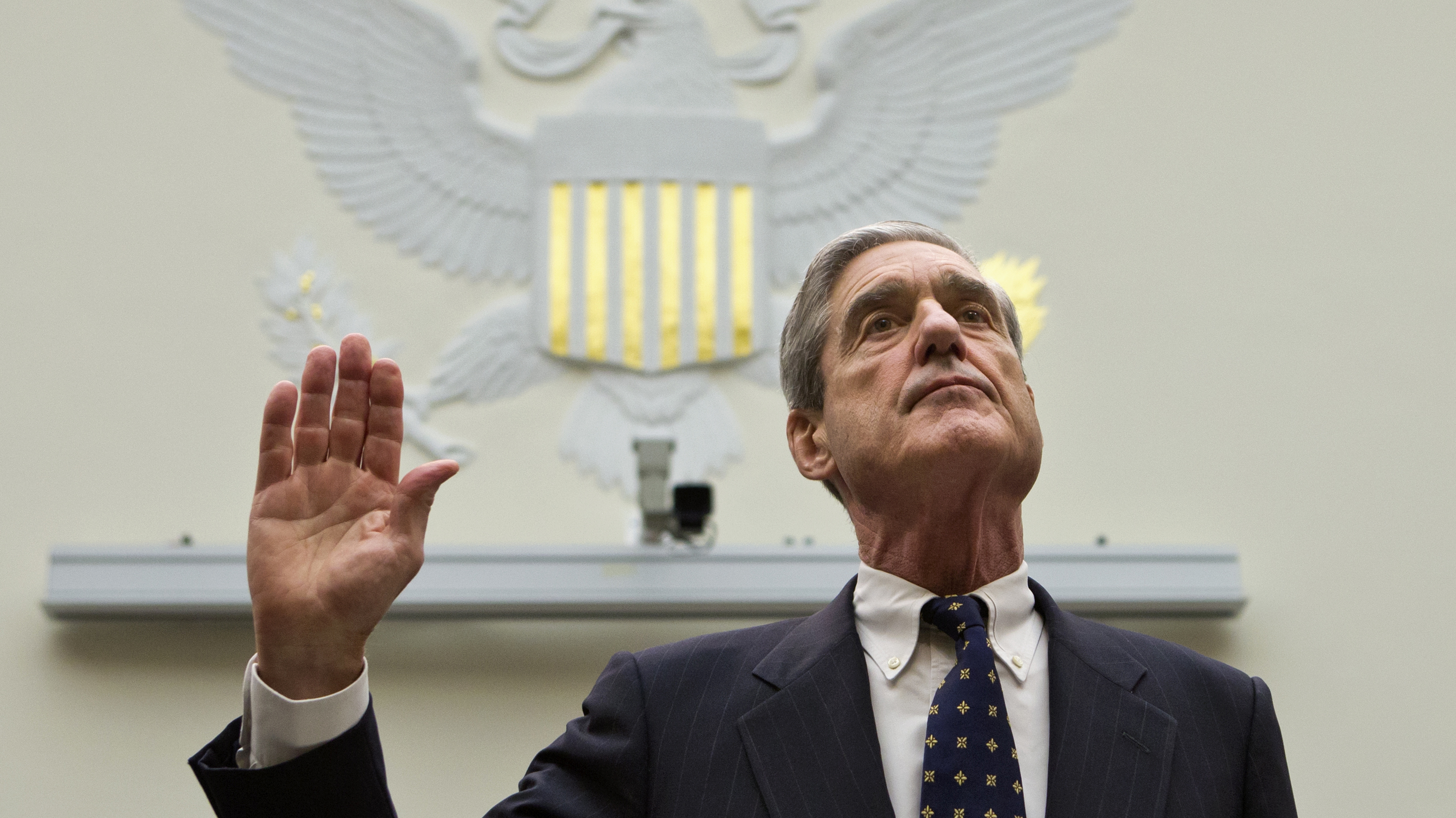 Robert Mueller is sworn in on Capitol Hill, prior to testifying before the House Judiciary Committeein 2013.