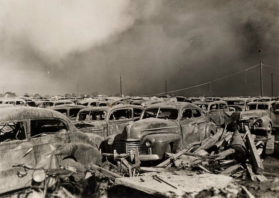 Texas City Disaster - Destroyed Cars