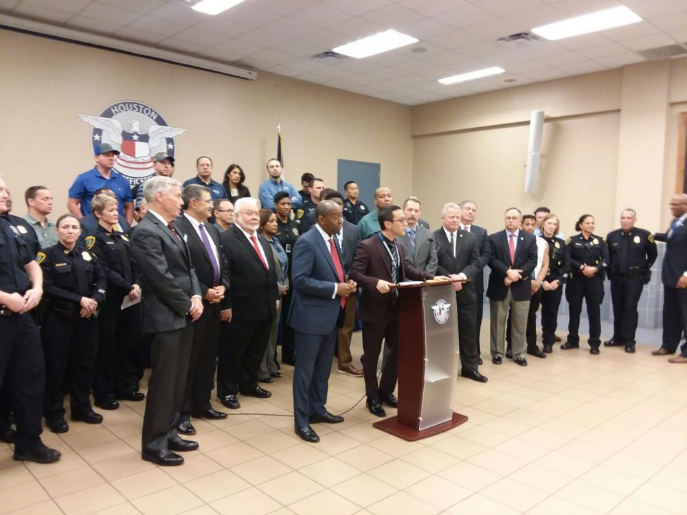 Joseph Gamaldi, president of the Houston Police Officers' Union, announced on January 31st 2018 that Mayor Sylvester Turner and the City Council members had signed a pledge to increase the local police force by 500 officers in five years.