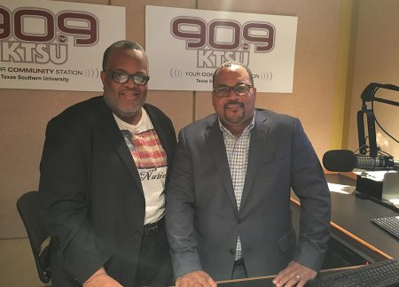 Charles Hudson and Ernest Walker of KTSU Radio
