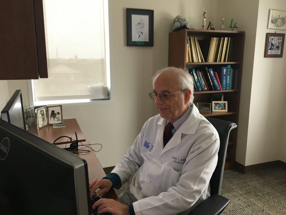 Dr. Michael Newmark, who works at Houston's Kelsey-Seybold Clinic, is one of the 21 physicians that have so far been approved by the Texas Department of Public Safety to prescribe low-THC cannabis treatments for intractable epilepsy.