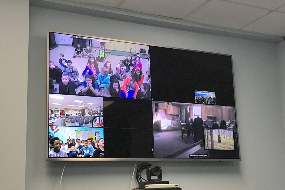 Classrooms watching a webcast