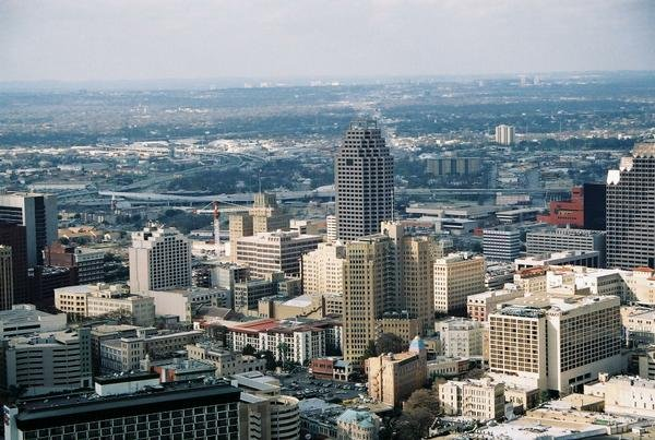 File photo of downtown San Antonio. The city documents show eight people resigned or were fired following complaints, which ranged from inappropriate text messages to unwanted touching.