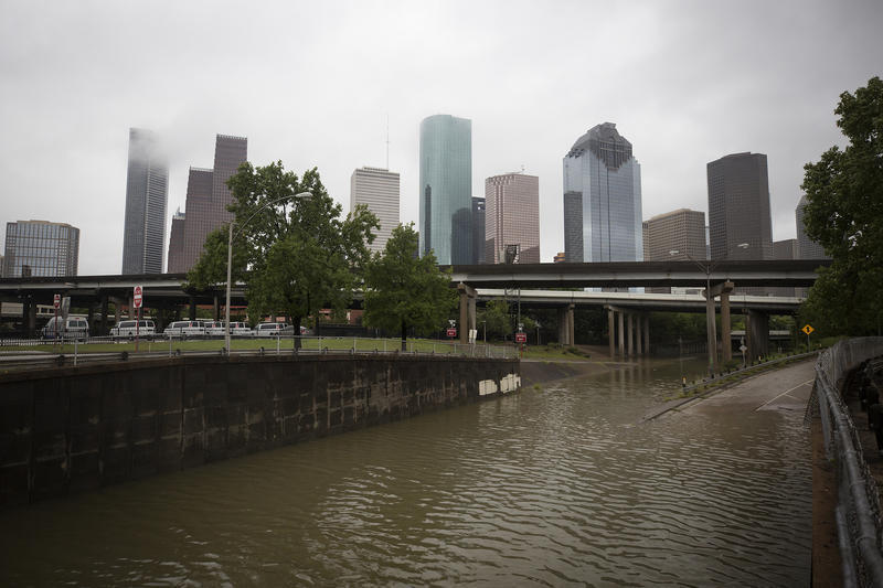 Houston in August 2017 days after Hurricane Harvey hit.