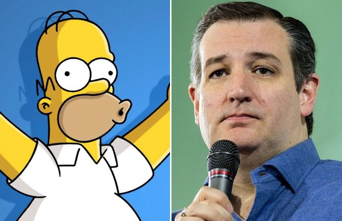 """I think the Democrats are the party of Lisa Simpson, and Republicans are happily the party of Homer and Bart and Maggie and Marge,"" the Texas Republican, Ted Cruz, said."