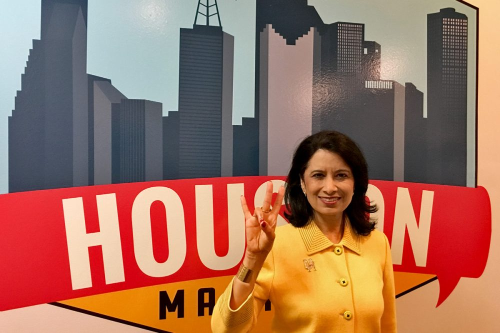 UH Chancellor Renu Khator - Houston Matters Sign