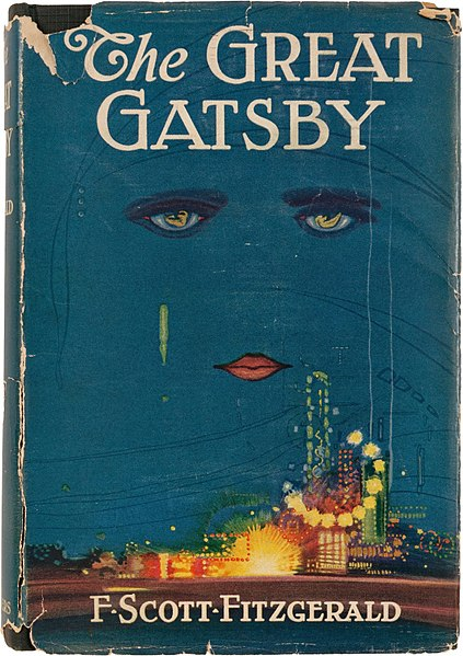 "1925 Cover of Fitzgerald's ""The Great Gatsby"""