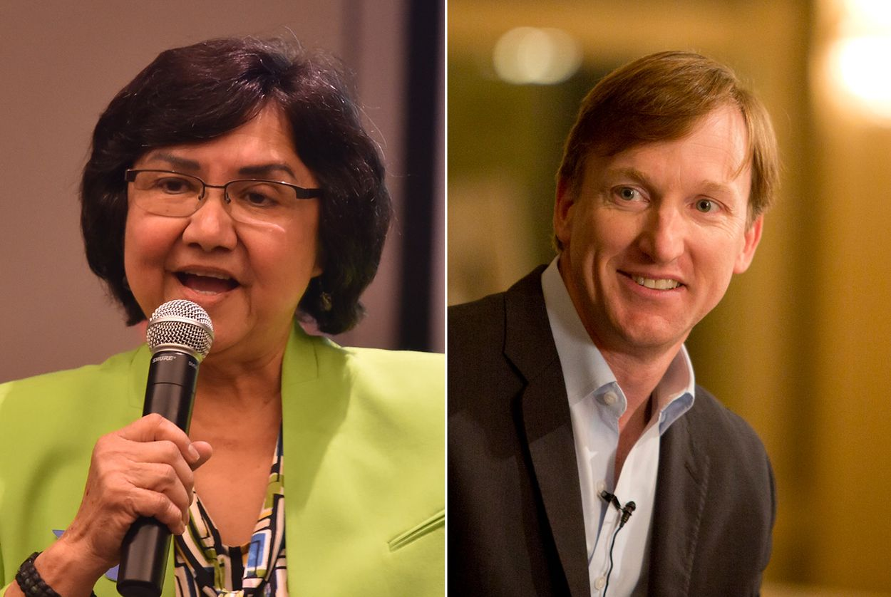Democratic candidates for governor Lupe Valdez and Andrew White.