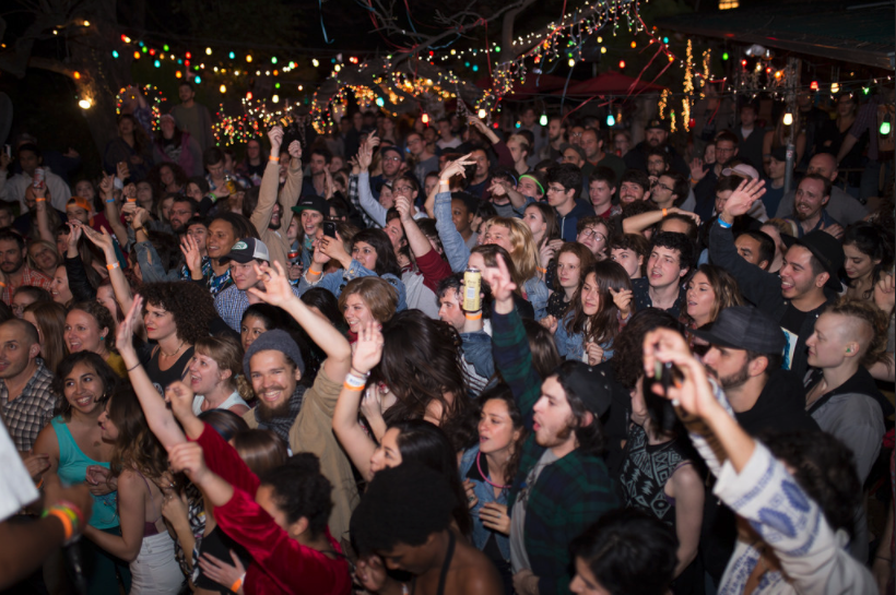 The crowd during a SIP SIP concert at the Spiderhouse Ballroom during SXSW last year.