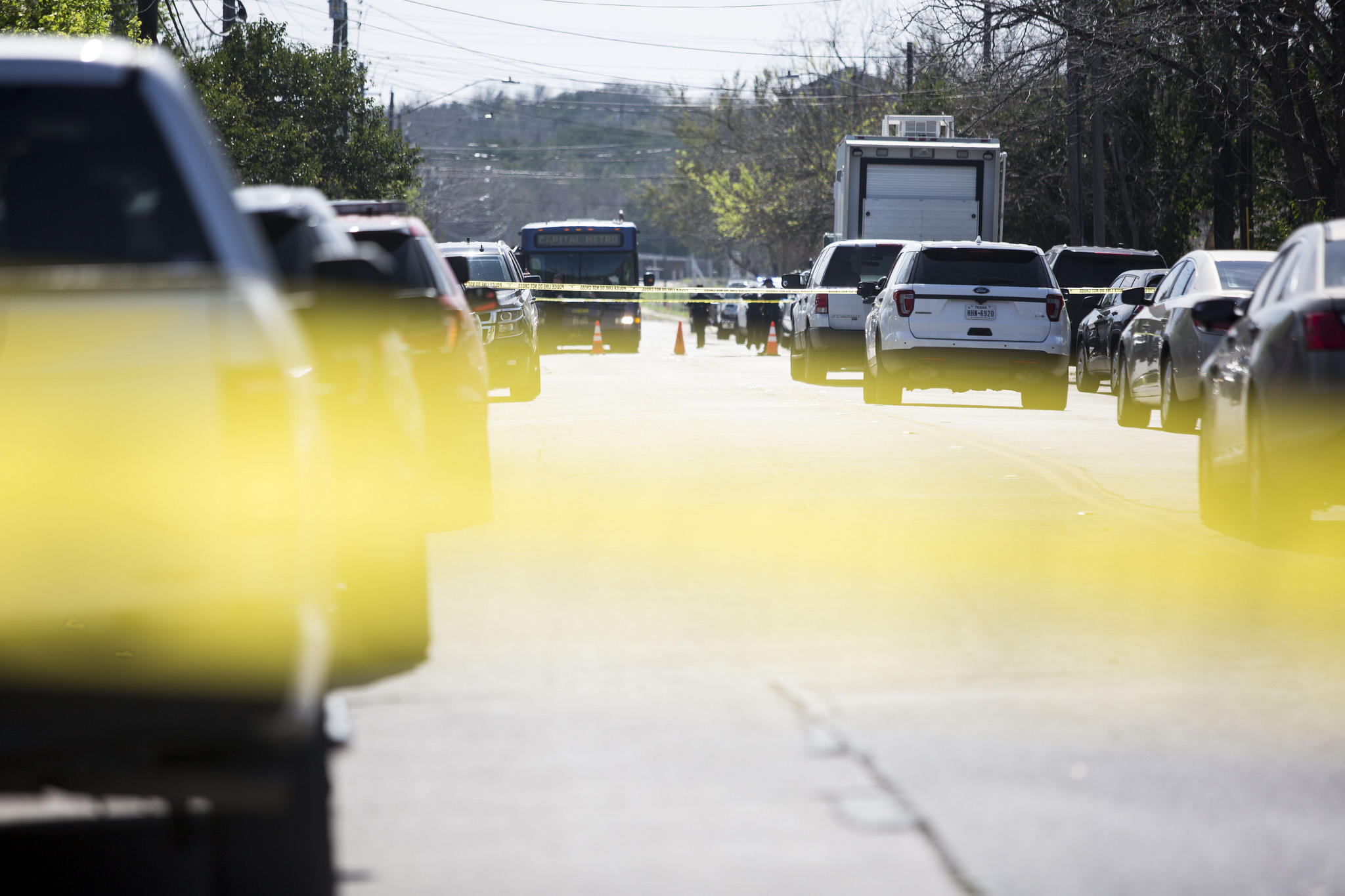 A package explosion yesterday on the 6700 block of Galindo Street left a 75-year-old woman with life-threatening injuries.