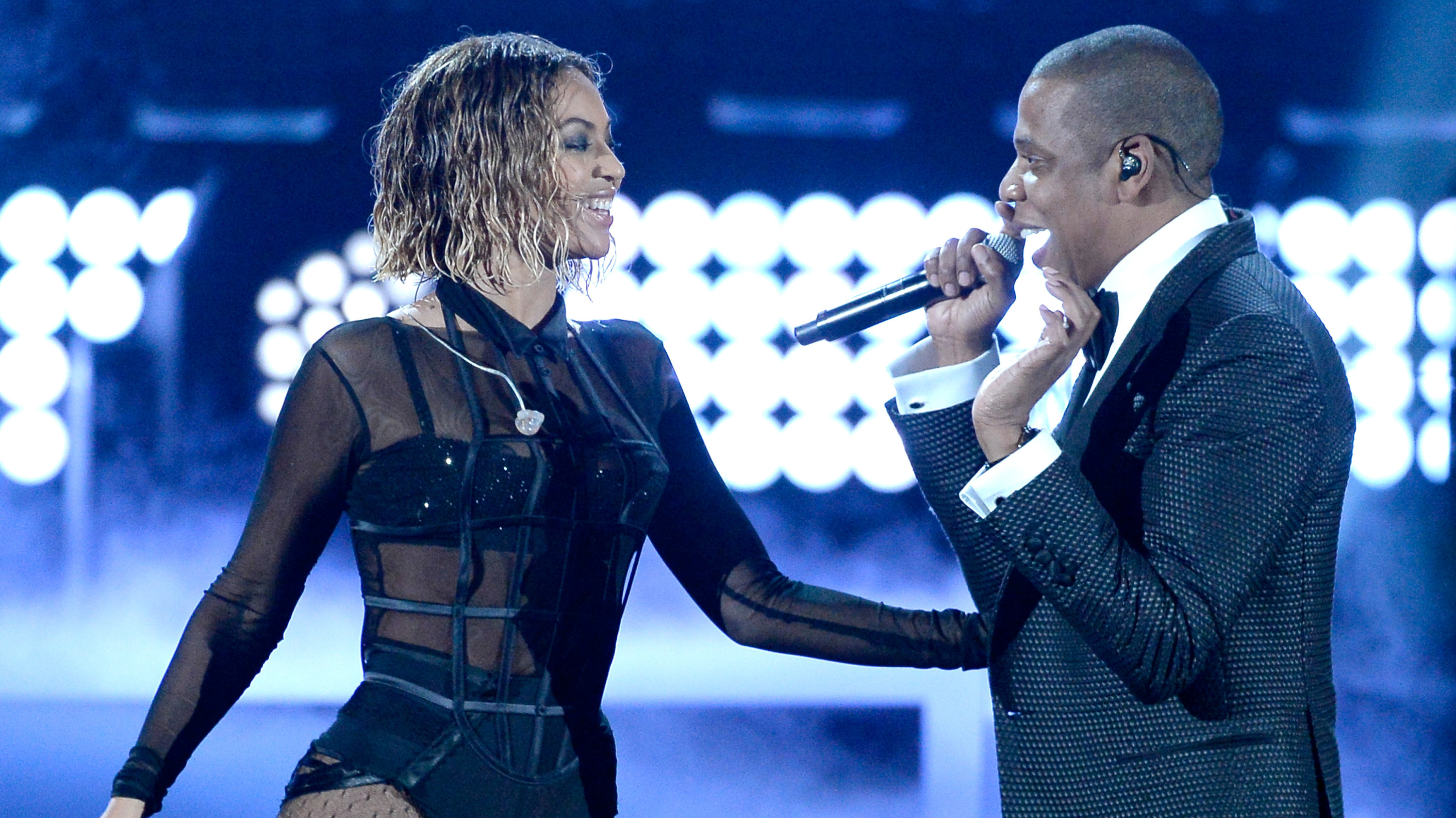 Beyonce and Jay Z perform at the Grammy Awards in January 2014.