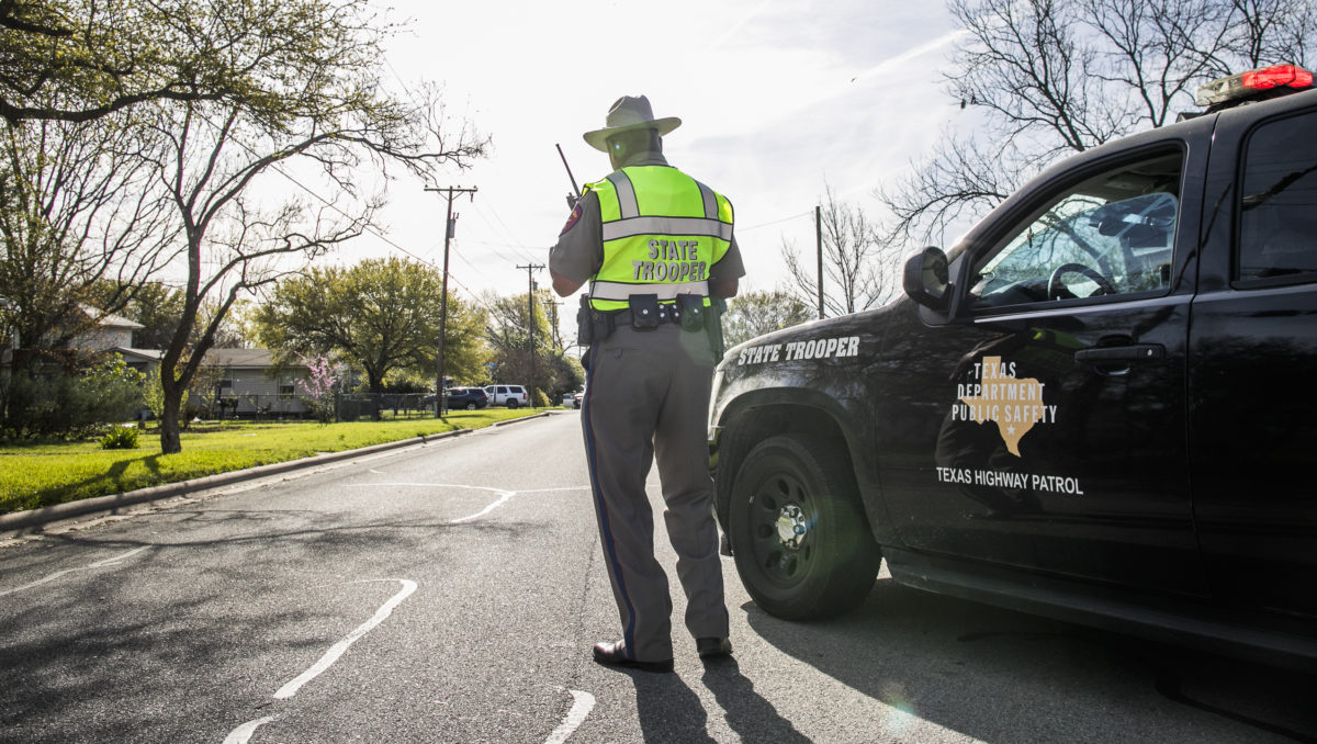 Police barricade the area surrounding the home of suspected Austin bomber Mark Anthony Conditt March 21, 2018 in Pflugerville, Texas. Conditt blew himself up near a hotel on Interstate 35 in the early morning hours of March 21 after police SWAT teams closed in on him.
