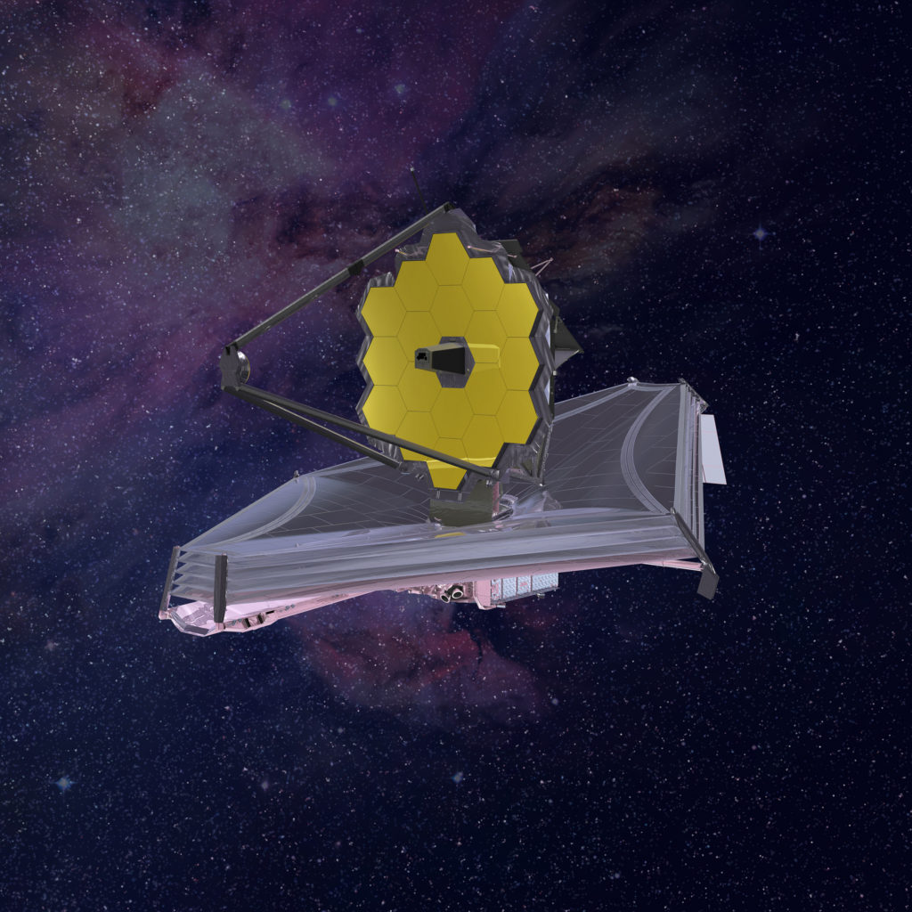 Artistic impression of the James Webb Space Telescope.