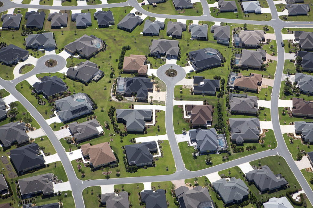 An aerial view of The Villages retirement community in Central Florida. The Villages has been the fastest growing metro area in the nation.